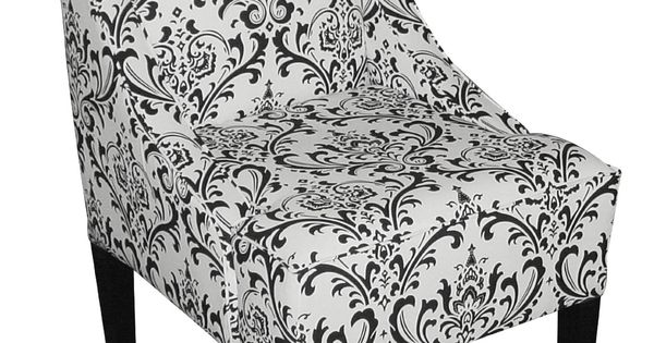 Floral black and white chair  211  Dorm room ideas