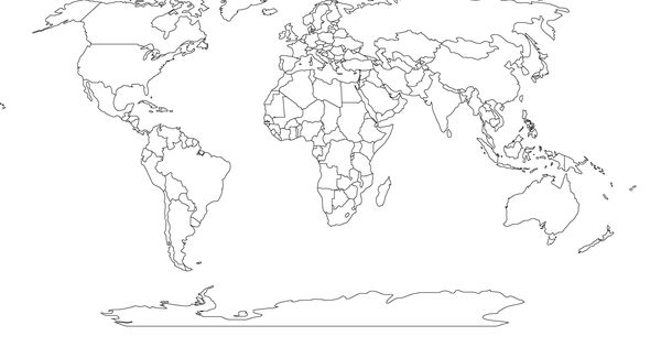 World Robinson Global Projection map printable blank
