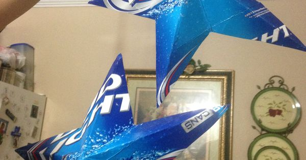 These are stars made from Bud Light cartons  Party