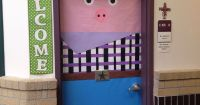 Cowboy pig door decoration just in time for rodeo