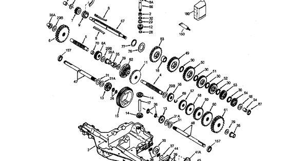 PEERLESS TRANSAXLE Diagram & Parts List for Model
