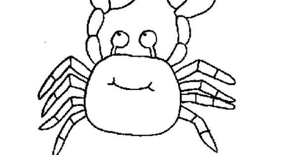 Crab sea animal coloring page for kids free printable