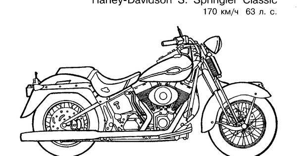 coloring pages 1 / Motorcycles / Kids printables coloring