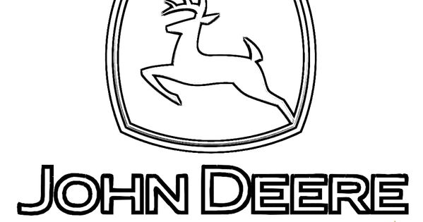 John Deere Logo Tractor Coloring Page. You can print out