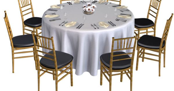 Banquet Table Without Chair Covers