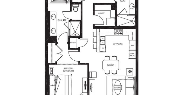 Our 1 bedroom, 1 Bathroom Total Area- 1,346 sq.ft Living