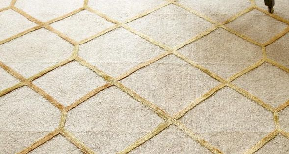 ivory with gold grids area rugs  Modern Paro Grid Rug