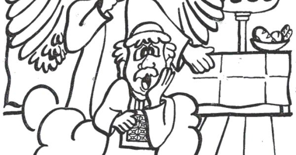 Zechariah And Elizabeth Bible coloring page for Kids to