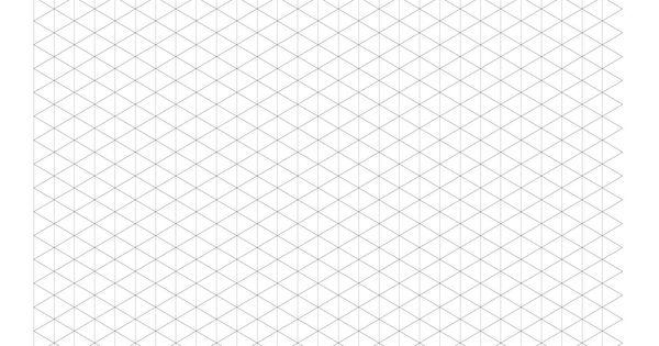 1 cm Isometric Grid Paper (Landscape) (A) Math Worksheet #