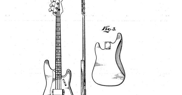 Original Fender Precision Bass Patent. The first