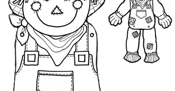 Scarecrow Head and BODY printable for those Autumn DIY
