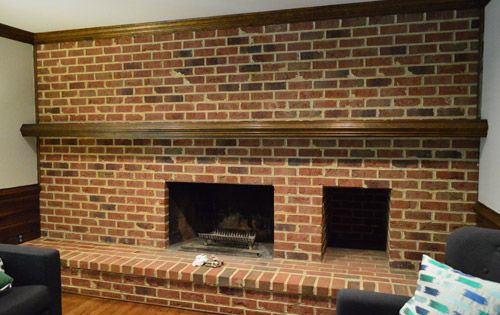 How To Whitewash A Brick Wall Or Fireplace  Old houses The ojays and Fireplaces