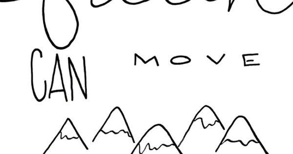 Matthew 17:20- Faith can move mountains- Bible verse Hand