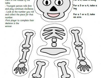 skeleton game 460 406x575 15 Kids Halloween Crafts