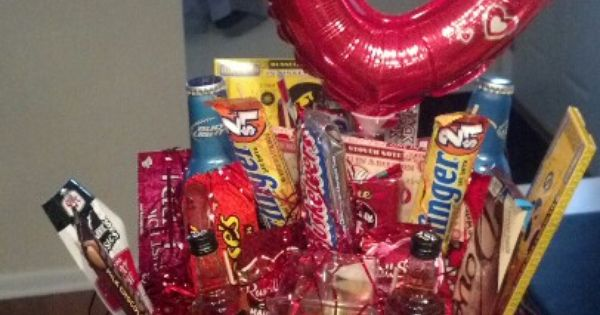 Manly Valentines Day Gift Basket Contents Bud Light