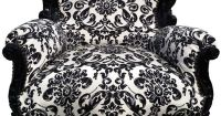 black and white damask & baroque armchair....and again add ...