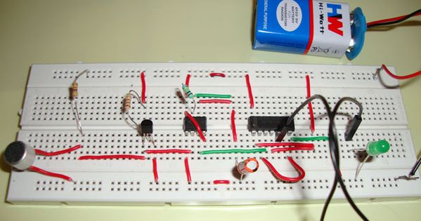 Sound Triggered Led Circuit Schematic Diagram