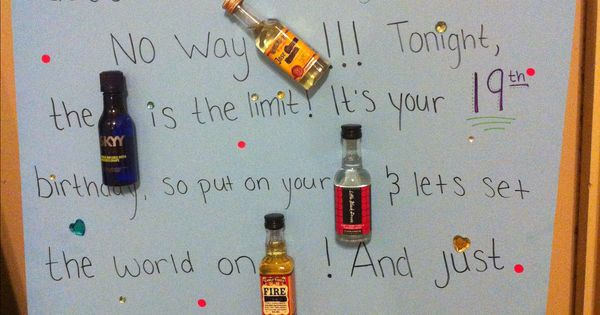 "Mad Libs Birthday Card Mini Alcohol Bottles ""Just"