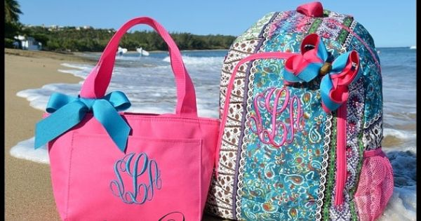 monogrammed backpacks for college