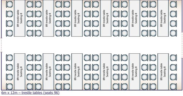 catering buffet set up diagram trane series e centravac long tables of 8 guests seating plan, for assigned tables, ...