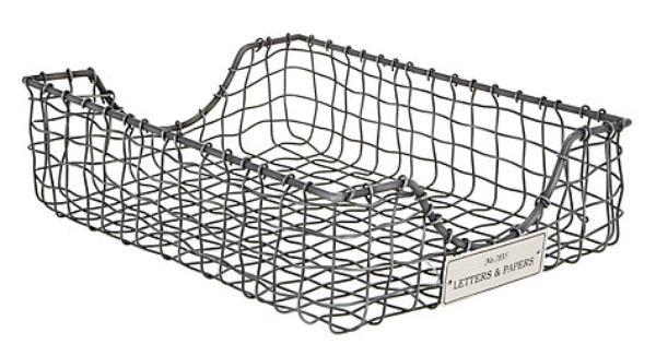 Buy John Lewis Wire Inbox Tray, Antique Zinc Online at