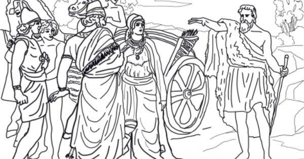 Jezebel and Ahab Meeting Elijah in Naboth\\\'s Vineyard