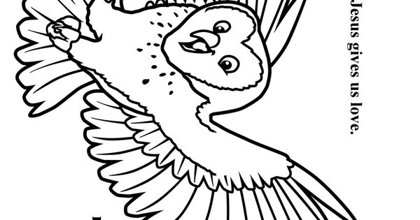 Cave Quest Day 4 preschool coloring page Olivia the Owl
