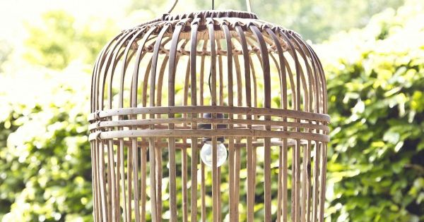 Rieten hippe hanglamp Bamboe  HetMandenhuysnl