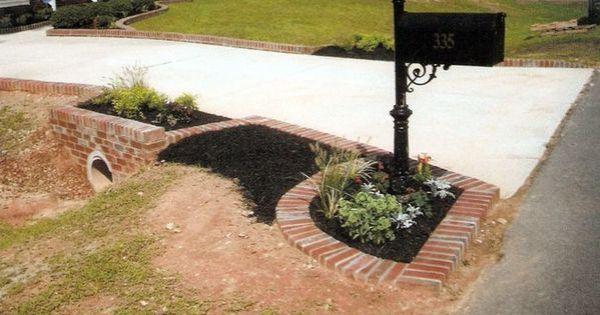 mailbox landscape ideas with culvert