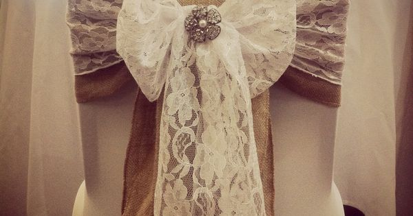 wedding chair covers swansea for hire hull rustic / vintage themed with hessian and lace sash inspiration ...