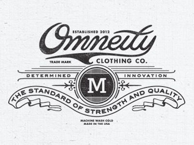 Omneity Clothing Label Tag on Inside of T-Shirts {love the