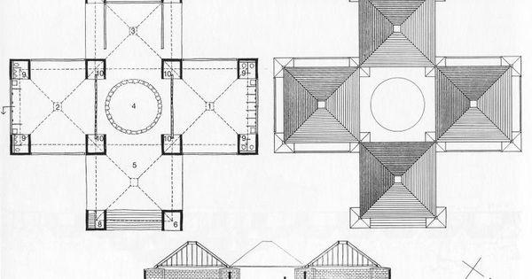 Trenton Bath House Floor Plan  Louis Kahn  Pinterest  House floor plans Floor plans and House