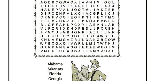 Civil War for Kids Civil War Word Search
