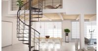 Fancy Spiral Staircase Metal Frame And Steps: Fancy Spiral ...