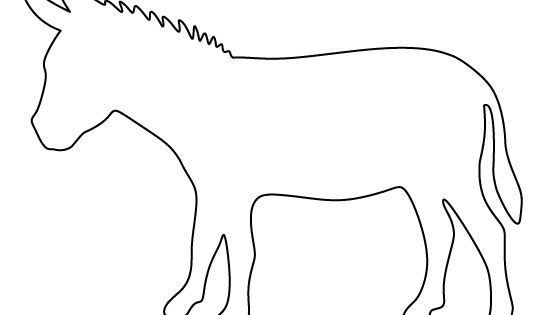 Donkey pattern. Use the printable pattern for crafts