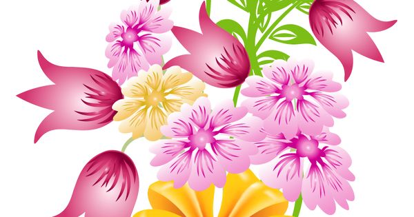 spring flower bouquet clip art