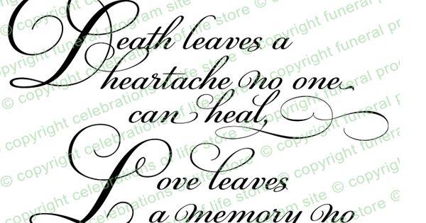 Funeral Poems : Death Leaves a Heartache 2 Poem (Colors