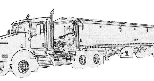Semi Truck Coloring Pages Semi Truck Coloring Pages