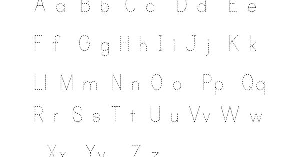 Letter Tracing Sheets to Learn Writing for your children