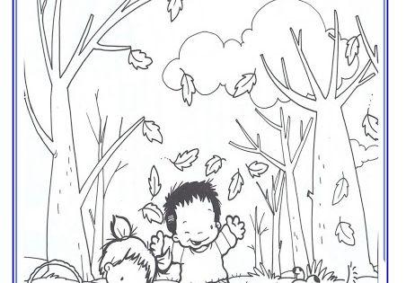 Atividades prontas para imprimir: Desenhos de Outono para