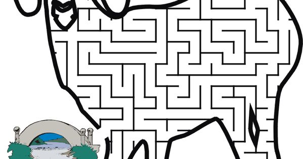 Printable Billy Goats Gruff Maze: Guide the goat to the