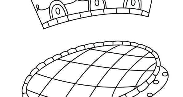 Dessin à colorier d'une galette des Rois avec sa couronne