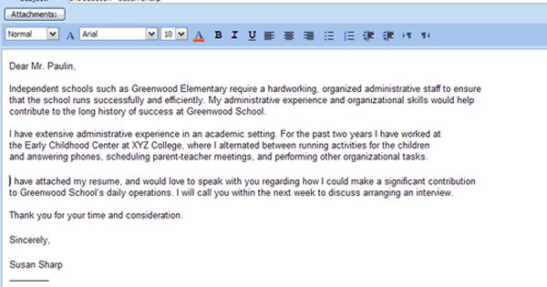 formatting a cover letters