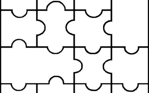 Blank puzzle for social work or therapy: Helpful for