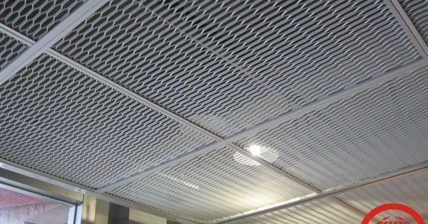 Metal Stretched Drop Ceiling Tilesgrid Panel Buy Metal
