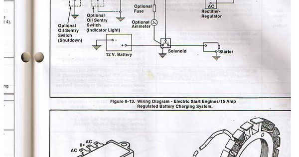 lawn mower rectifier wiring diagram