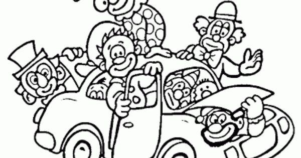 Dibujos Sin Colorear Dibujos De Payasos Del Circo Para