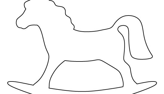 Rocking horse pattern. Use the printable outline for