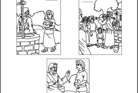 Samaritan Woman At The Well (Coloring Pages) Coloring
