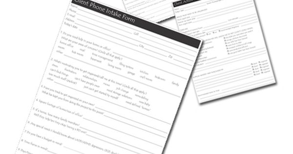 Set of five Essential Client Forms for Professional